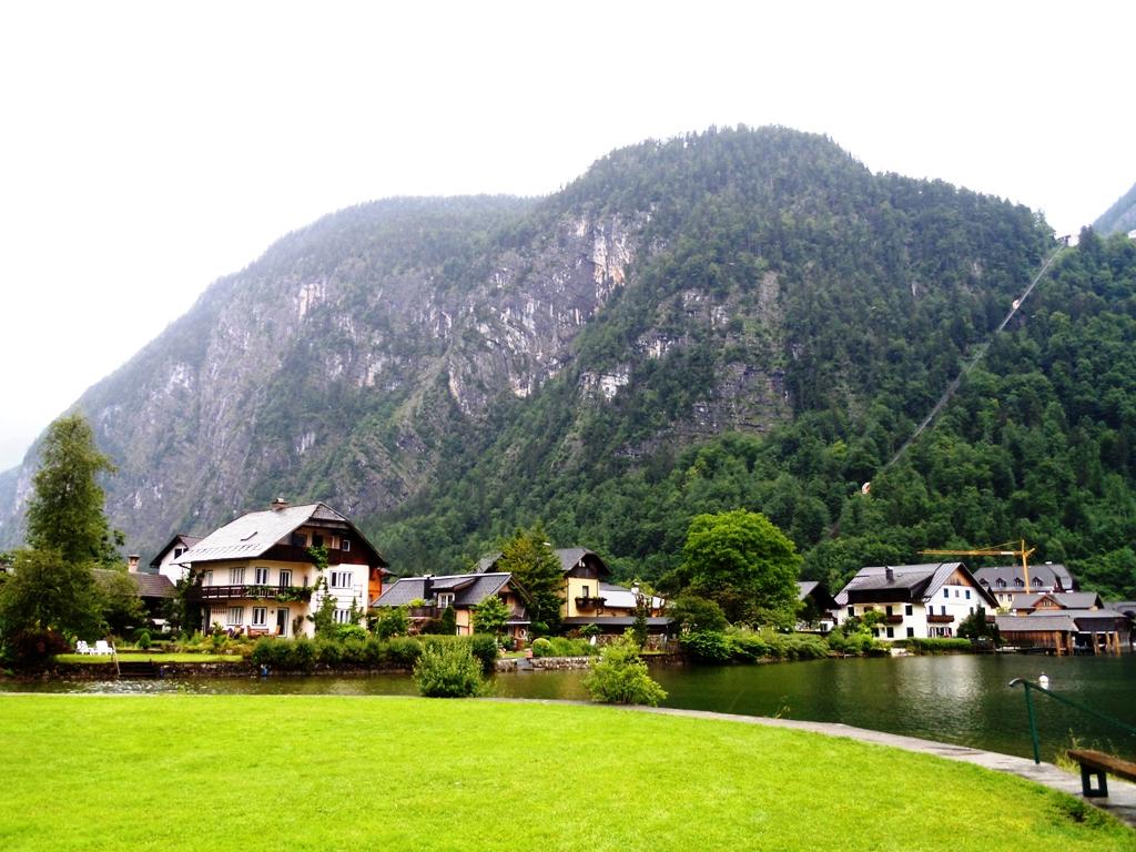 The Austrian village of Fuschl am See