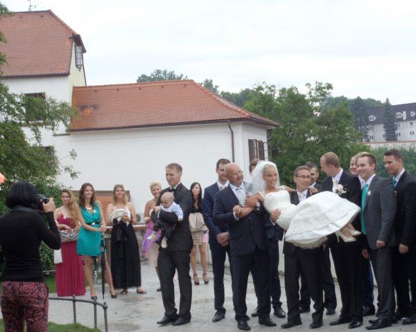Bride in Cesky Krumlov