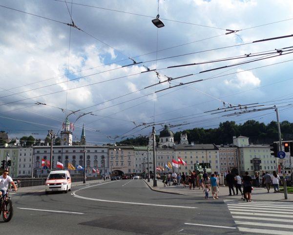 Bridge to the center of Salzburg