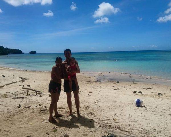 Family at Lara Beach Bohol
