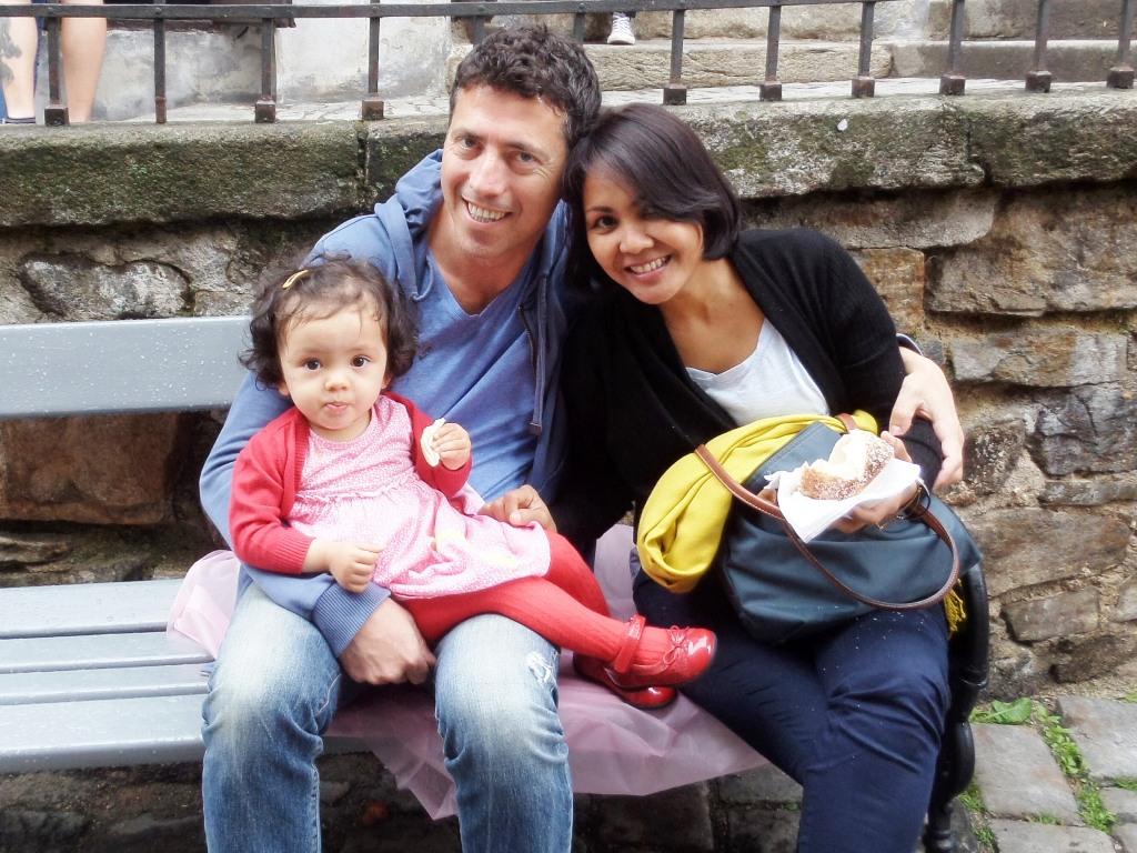Lara and family in Cesky Krumlov