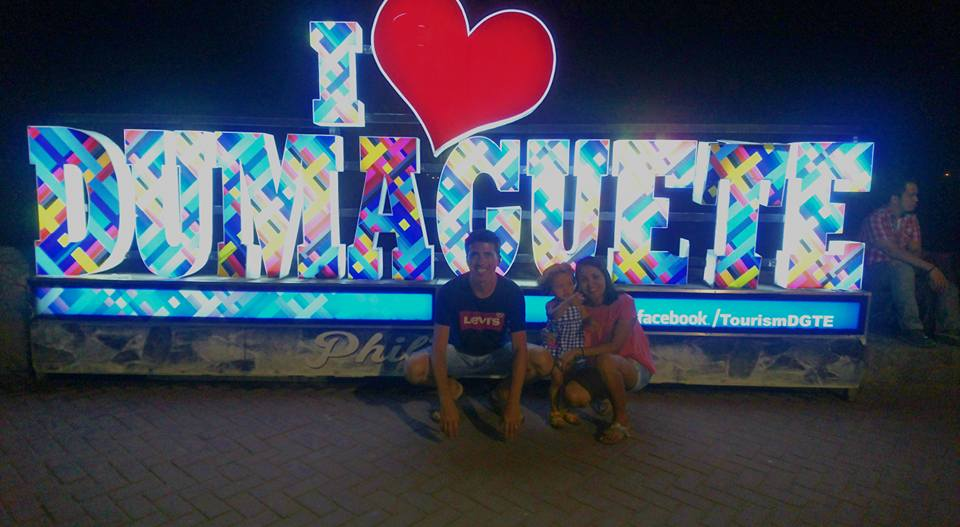 Lara and family in Dumaguete City