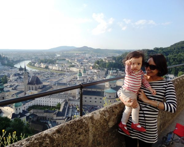 Lara at the Castle of Salzburg