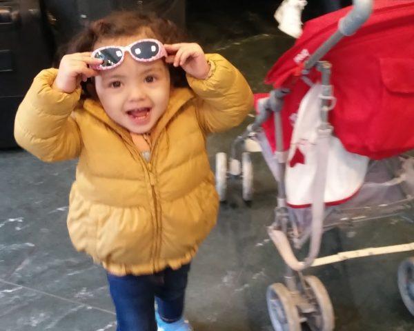 Lara at the airport in Istanbul