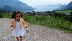 Baby Lara in St. Gilgen, Austria
