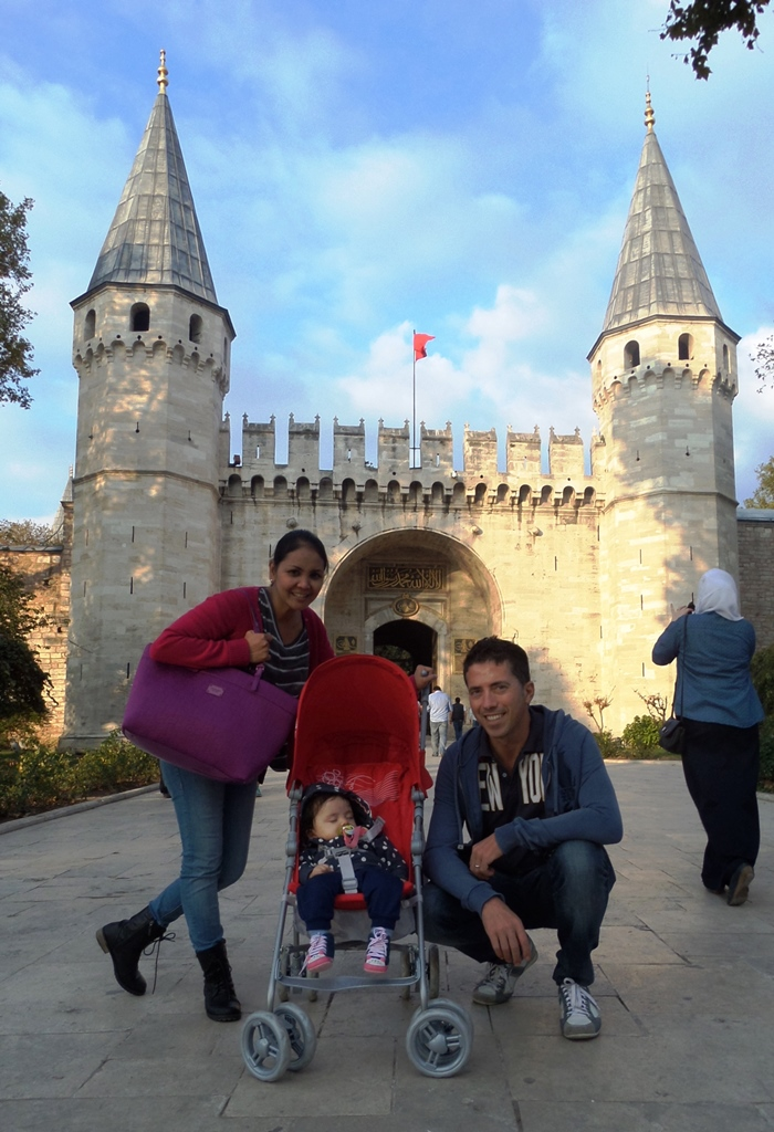 Lara, mom, and dad in Istanbul