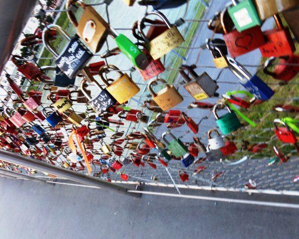 Love locks in Salzburg