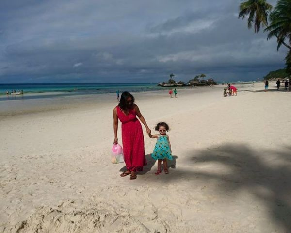 Mom and Lara at Boracay