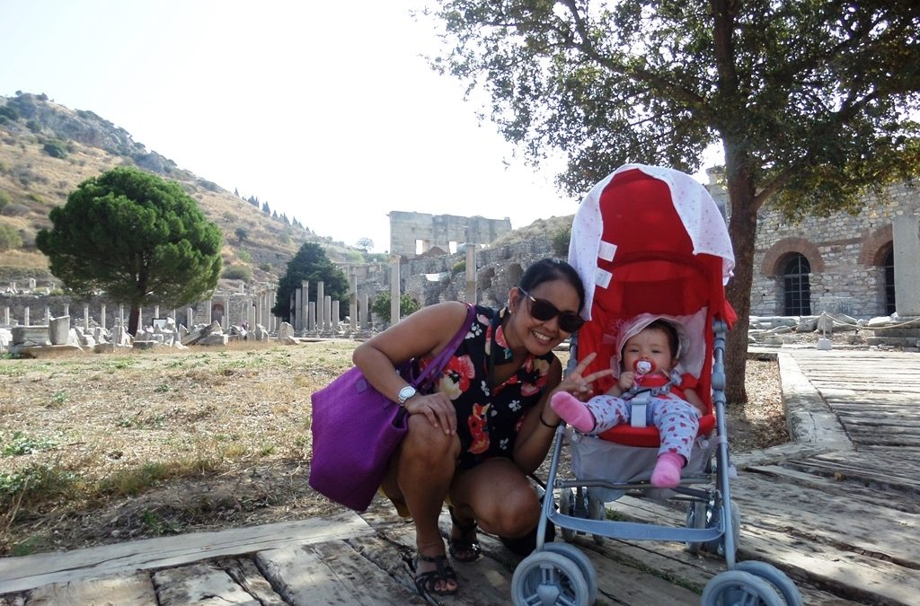 Mom and Lara at Ephesus