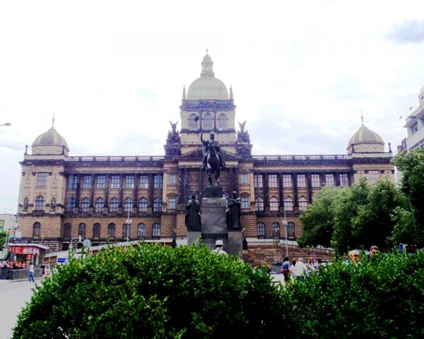 National Museum back St. Wenceslas Statue