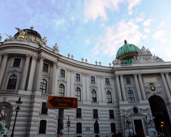 Outside the Schoenbrunn Palace in Vienna