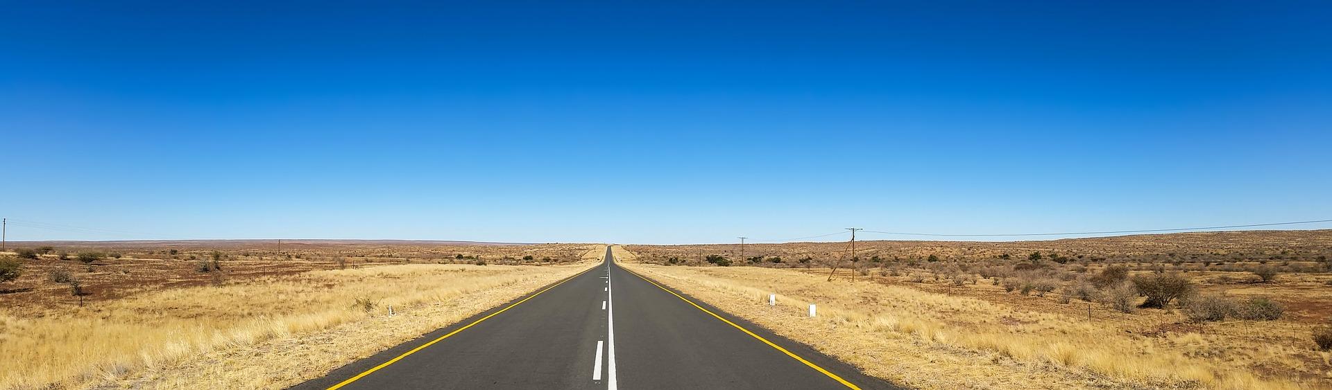 Road in the Namib Desert