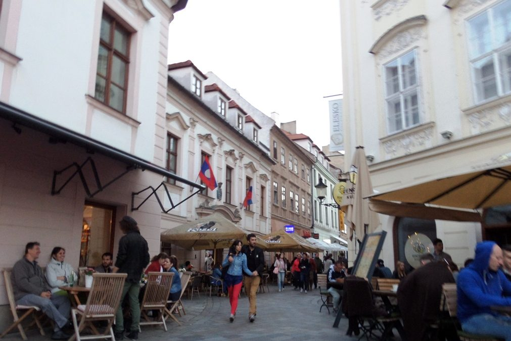 Street in the old town of Bratislava