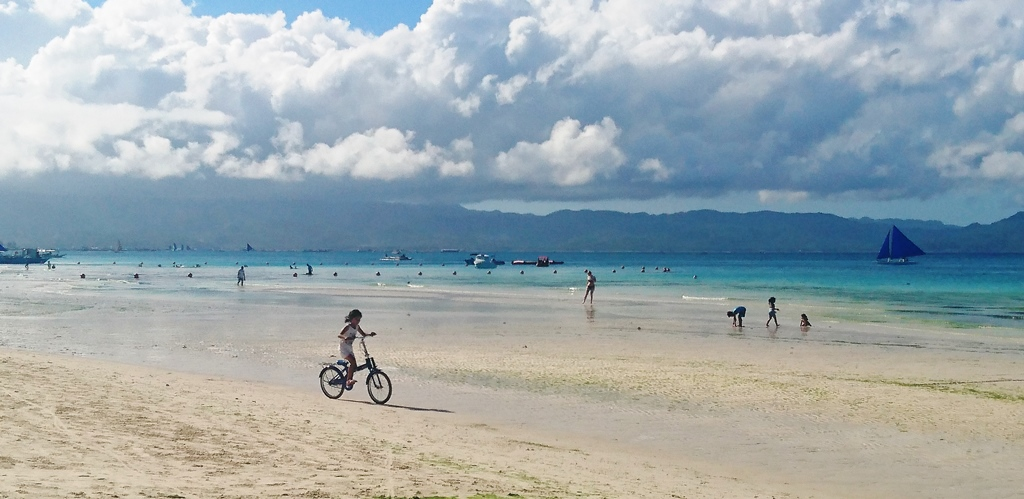 The white sand beach of Boracay