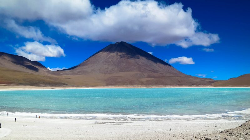 Volcano Salt Lake Atacama Desert, Chile-Bolivia-Argentina
