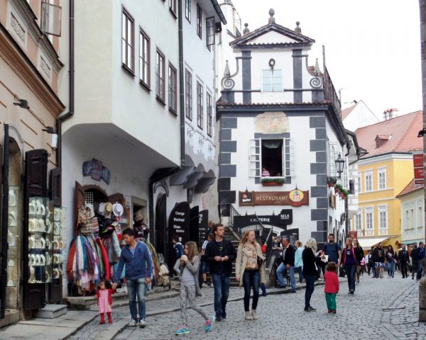 Walking around the town center
