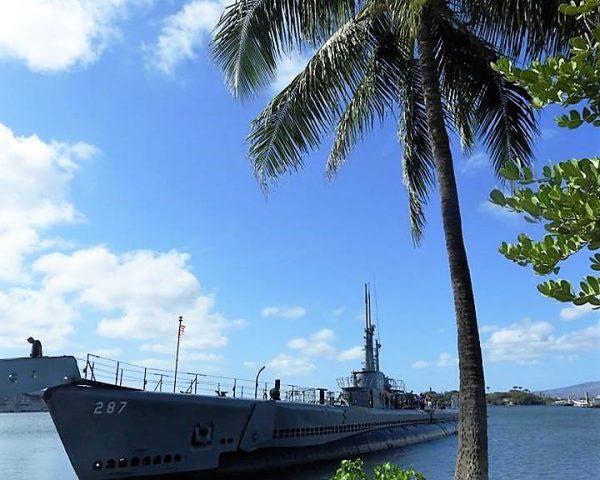 A warship at Pearl Harbor