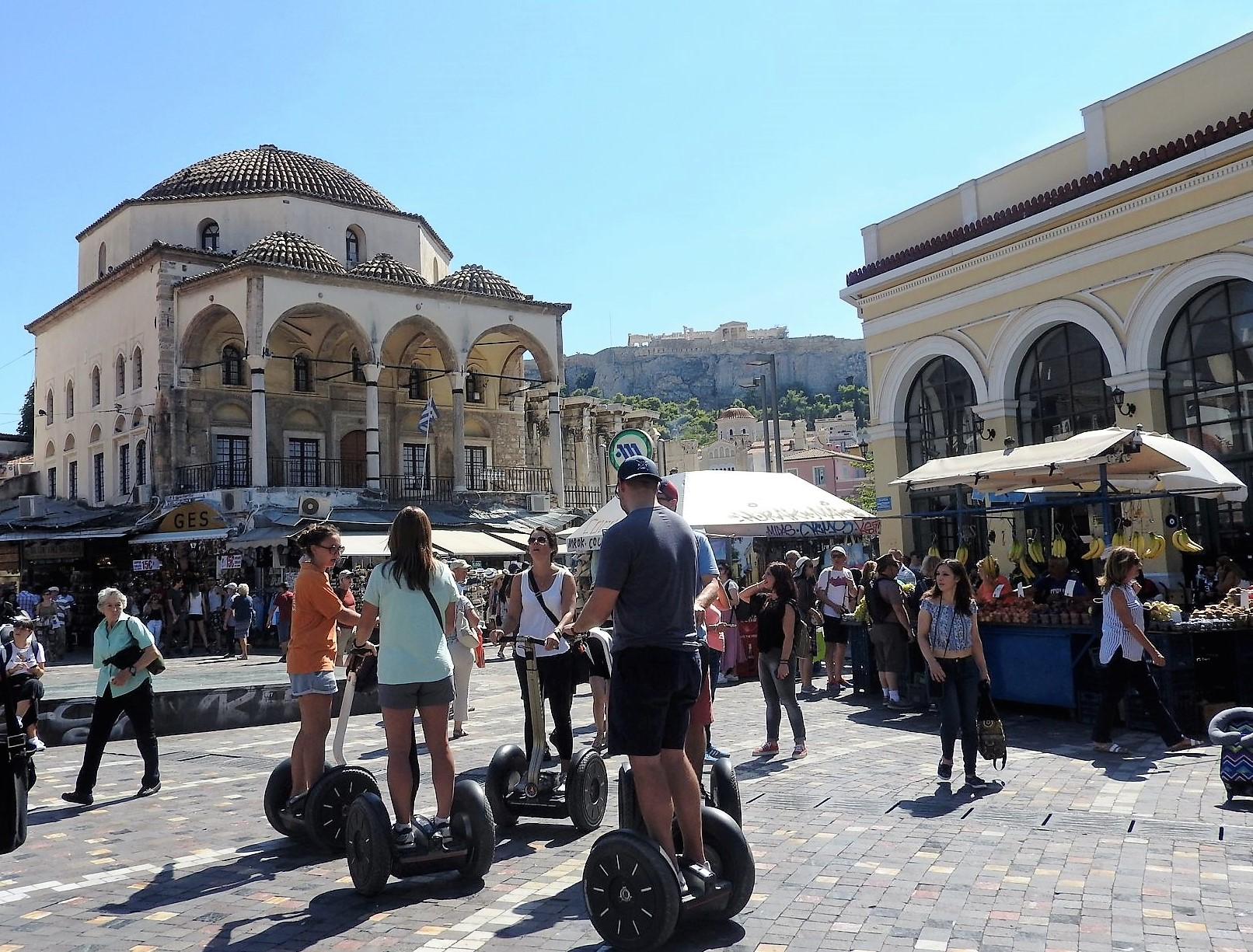Athens by day at Monastiraki Square