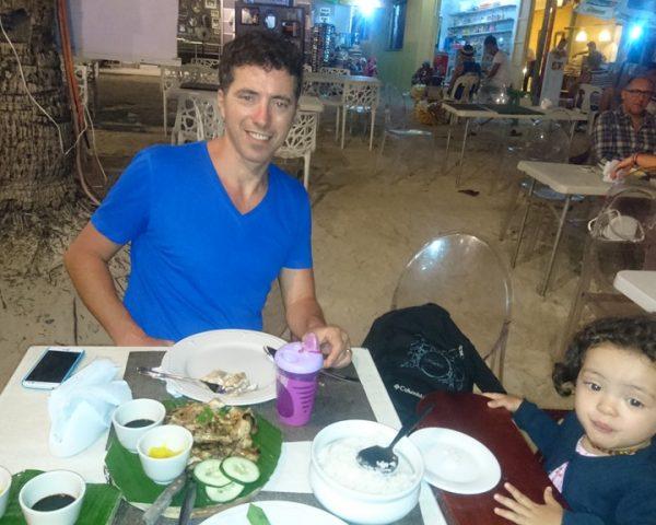 Beautiful dinner in Boracay