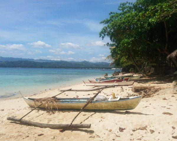 Boats on the Lara Beach Bohol