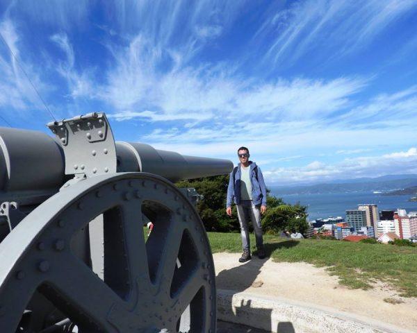 Dad in Wellington