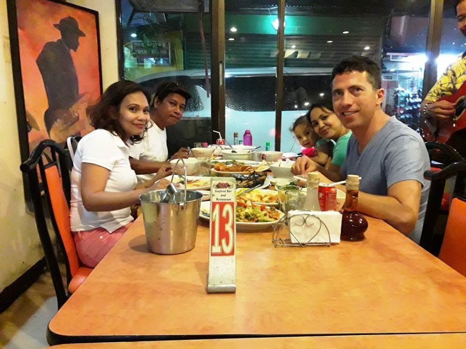 Dinner with friends in Manila