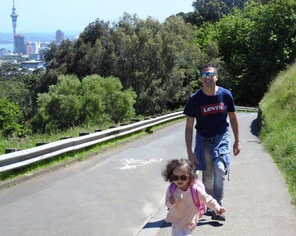 Going up Mt. Eden, Auckland