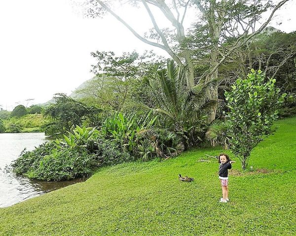 Great time for Lara at Hoomaluhia Botanical Garden.