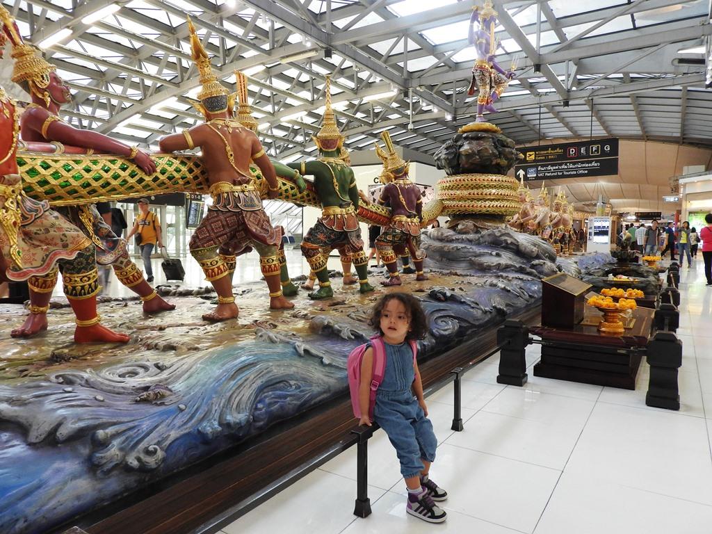 Lara The Explorer at Suvarnabhumi Airport