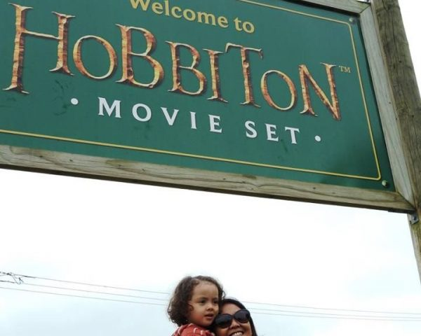 Lara and Mom at Hobbiton Movie Set