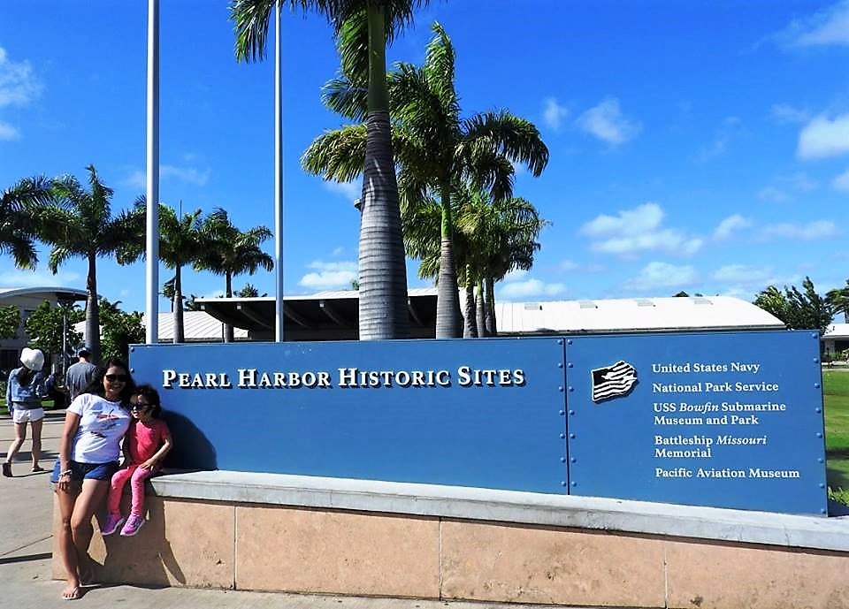 Lara and Mom at Pearl Harbor