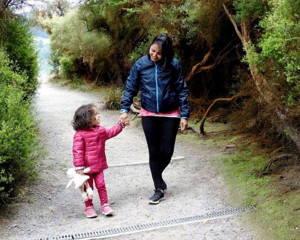 Lara and Mom at Wai-O-Tapu Thermal Wonderland
