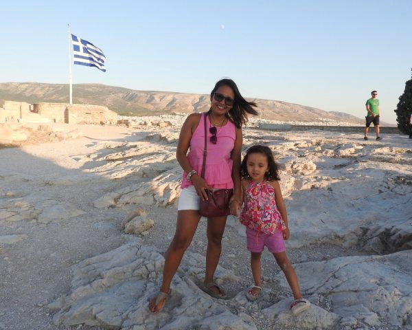 Lara and Mom at the Acropolis, Greece