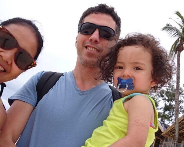 Lara and family in Boracay
