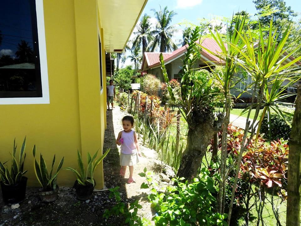 Lara at her home in Bohol