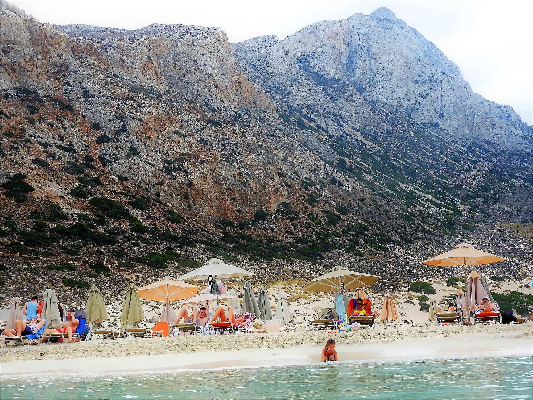 Lara at the beautiful Balos Lagoon, Crete
