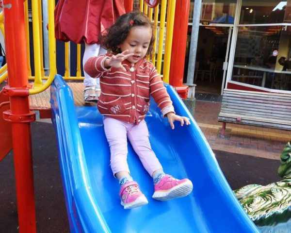 Lara having fun in downtown Wellington
