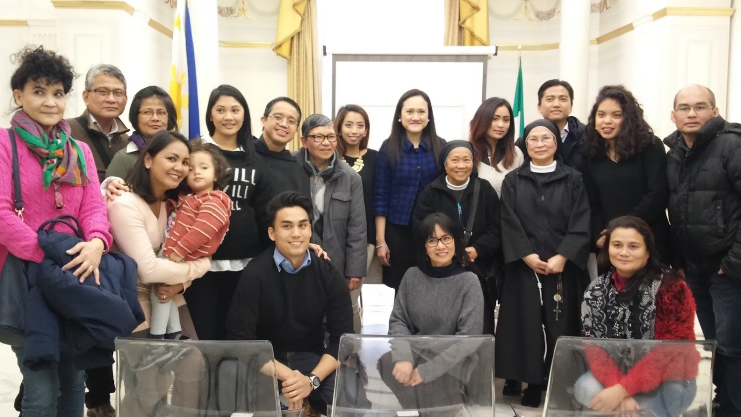 Lara in Rome at the Embassy of the Philippines