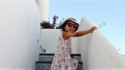 Lara in the Aeolian Island. The world's youngest travel blogger.
