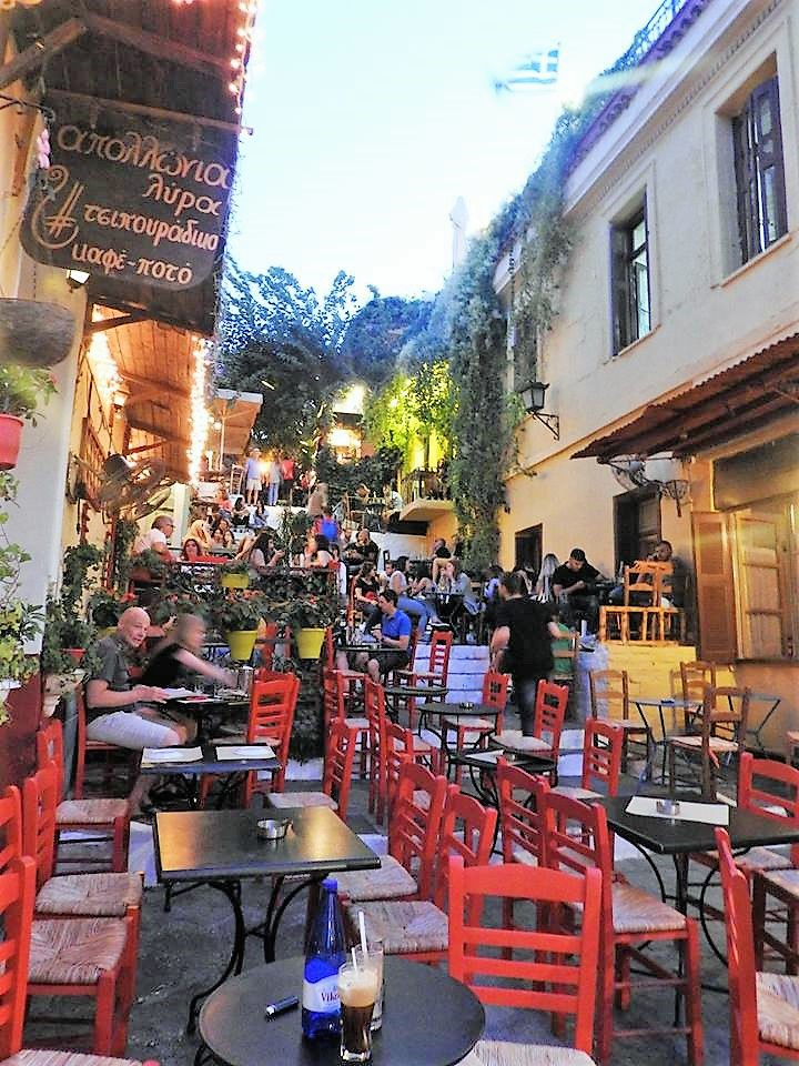 Night life in Athens