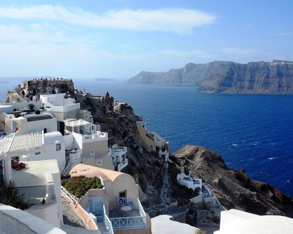 Panoramna of Oia, Santorini