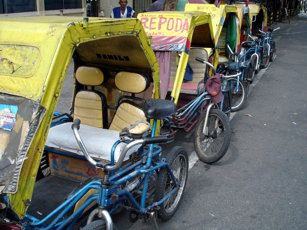 Pedicabs in Manila