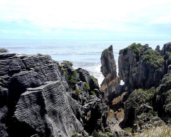 Punakaiki Pancake Rocks, Blowholes