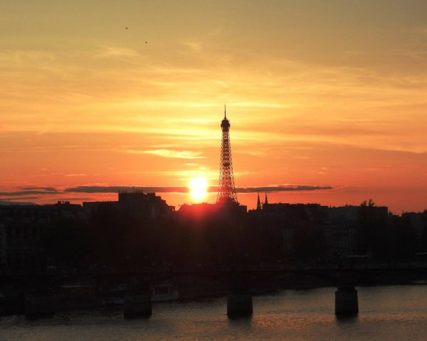 Sunset with the Eiffel Tower