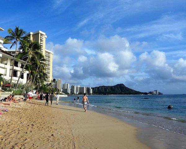 The beach of Waikiki