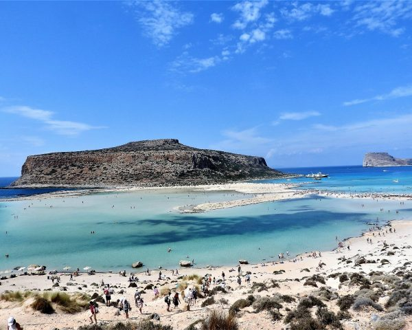 The beautiful colors of the Balos Lagoon, Greece