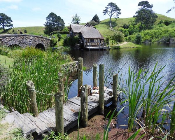 The beauty of Hobbiton Movie Set