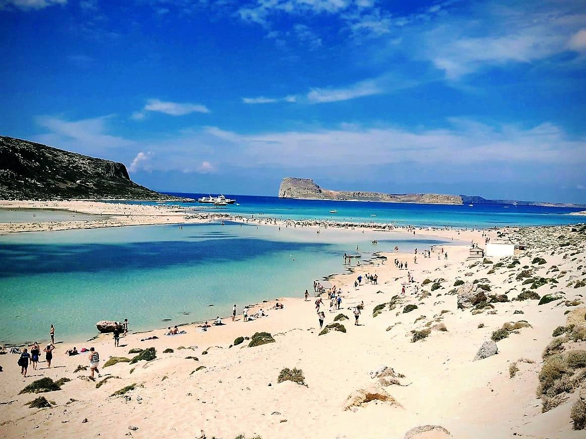 The beauty of the Balos Lagoon in Crete