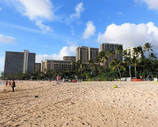 The iconic beach of Waikiki