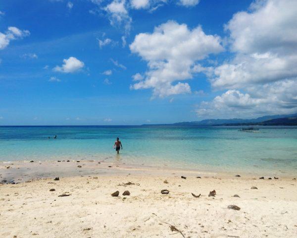 The incredible water of Lara Beach Bohol